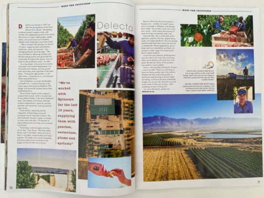 Delecta Fruit featured in Spinneys Consumer Magazine